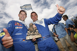 Car category podium: winners Giniel De Villiers and Dirk Von Zitzewitz