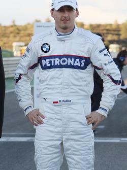 Robert Kubica with the new BMW Sauber F1.09