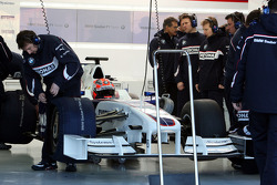 Robert Kubica, BMW Sauber F1 Team after his first installation lap