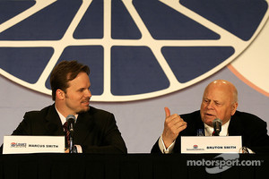 Speedway Motorsports Inc. CEO and Chairman of the Board Bruton Smith and General Manager of Lowe's Motor Speedway Marcus Smith