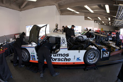 Brumos Racing garage area