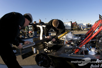 Childress-Howard Motorsports team members at work