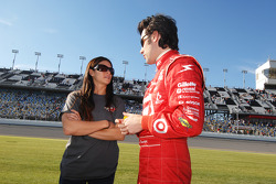 Danica Patrick and Dario Franchitti