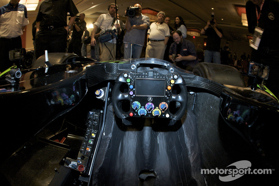 #9 Patron Highcroft Racing Acura ARX 02a Acura cockpit detail