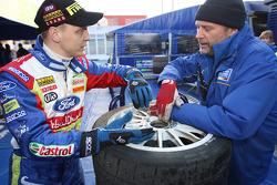 Mikko Hirvonen and George Black discuss tyres