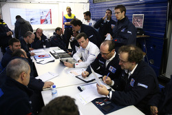 Peugeot Sport team members at work