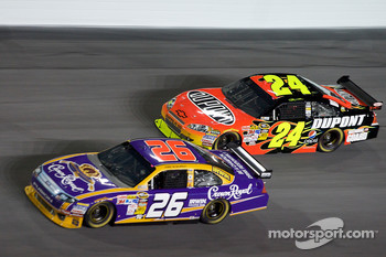 Jamie McMurray, Roush Fenway Racing Ford, Jeff Gordon, Hendrick Motorsports Chevrolet