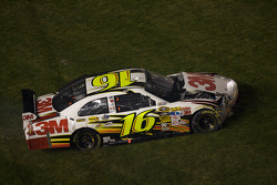 Greg Biffle, Roush Fenway Racing Ford spins on the grass
