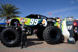 Aflac press conference: Carl Edwards, Roush Fenway Racing Ford with the Aflac monster truck