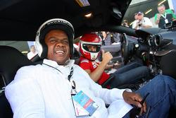 MEC Mandla Nkomfe with Felipe Massa