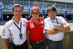 Pete da Silva, Felipe Massa and Tony Teixeira, A1GP Chairman