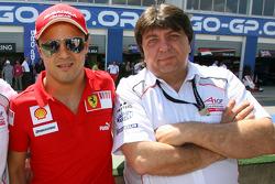 Felipe Massa and Tony Teixeira, A1GP Chairman