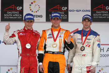 Podium: race winner Jeroen Bleekemolen, second place Filipe Albuquerque, third place Neel Jani