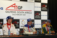 Press conference: race winner Neel Jani, second place Felipe Guimaraes, third place Clivio Piccione