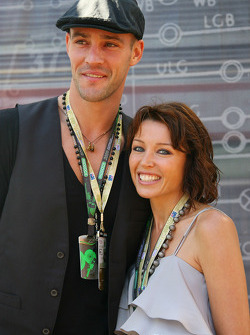 Danni Minogue, Singer with her boyfried