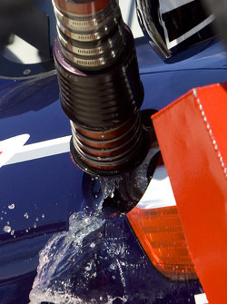 Sunoco racing fuel during a pit stop