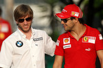 Nick Heidfeld, BMW Sauber F1 Team, Felipe Massa, Scuderia Ferrari