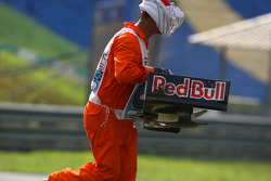 A marshall with a Red Bull front wing