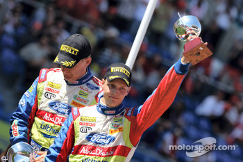 Second place Mikko Hirvonen and Jarmo Lehtinen