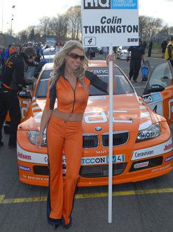 Colin Turkington's grid girl