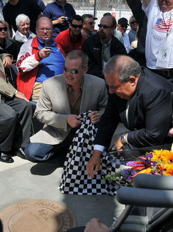 Al Unser Jr. unveils his plaque on the Motorsports Walk of Fame