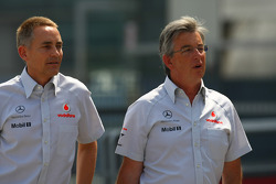 Martin Whitmarsh, McLaren, Chief Executive Officer with Ekrem Sami Head of McLaren Marketing