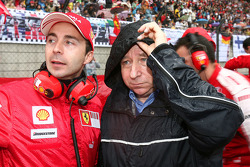 Nicolas Todt, Manager of Felipe Massa with his father Jean Todt, Scuderia Ferrari