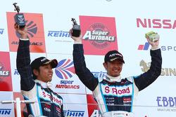 GT300 podium: third place Kazuki Hoshino and Masataka Yanagida