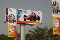 Road signs and advertising on the streets