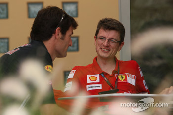 Chris Dyer, Scuderia Ferrari, Track Engineer of Kimi Raikkonen and Mark Webber, Red Bull Racing