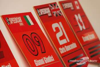 Grid boards for Gianni Giudici and Chris Buncombe Team Lavaggi