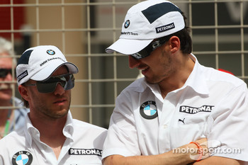 Nick Heidfeld, BMW Sauber F1 Team and Robert Kubica, BMW Sauber F1 Team