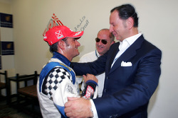 Speedcar Series Champion Gianni Morbidelli Palm Beach with Luciano Secchi WIND Group