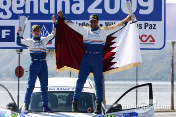 Podium: 7th place Nasser Al Attiyah and Chris Patterson, Subaru Impreza C07