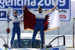 Podium: 7th place Nasser Al Attiyah and Chris Patterson, Subaru Impreza C07