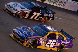 Jamie McMurray, Roush Fenway Racing Ford, Sam Hornish Jr., Penske Racing Dodge