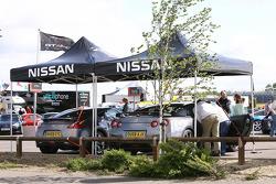 Nissan cars on display