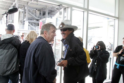 Richard Petty, Richard Petty Motorsports visits with Donald Davidson, IMS track historian