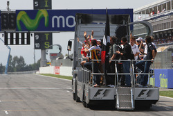 Drivers on the truck