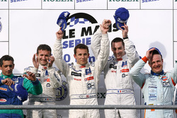 LMP1 podium: class and overall winners Nicolas Minassian, Christian Klien and Simon Pagenaud