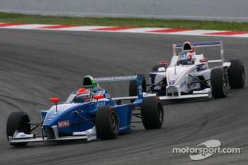 Luiz Felipe Nasr, Eurointernational leads Michael Christensen, Muecke Motorsport