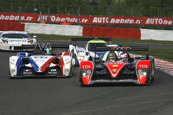 #37 WR / Salini WR - Zytek: Stéphane Salini, Philippe Salini, Tristan Gommendy; #14 Kolles Audi R10 TDI: Andrew Meyrick, Narain Karthikeyan, Charles Zwolsman