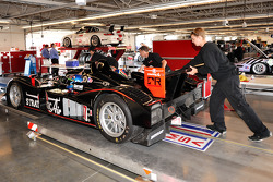 Technical inspection for the #37 Intersport Racing Lola B06/10 AER