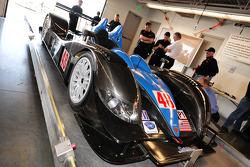 Technical inspection for the #48 Corsa Motorsports Ginetta-Zytek 09HS Zytek