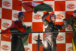 GT1 podium: class and overal winners Michael Bartels and Andrea Bertolini