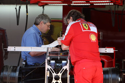 The FIA look at the Scuderia Ferrari car