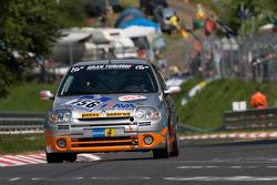 #156 East Belgian Racing Team Renault Clio RS: Jacky Delvaux, René Marin