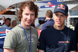 James Blunt Singer with Sebastian Vettel, Red Bull Racing