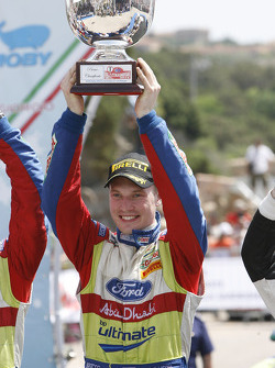 Podium: race winner Jari-Matta Latvala celebrates