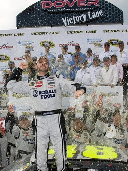 Victory lane: Jimmie Johnson celebrates